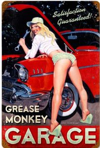 Grease Monkey Garage rusted metal sign (pst 1812)